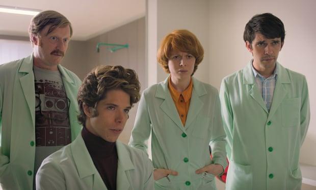David Wilmot, Phénix Brossard, Emily Becham and Ben Whishaw in Little Joe, dir. Jessica Hausner, 2019
